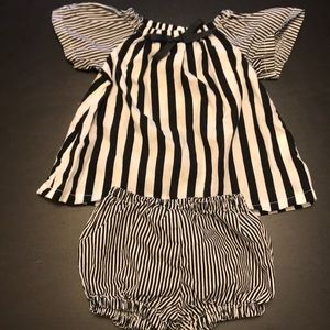 Other - To die for two piece black and white stripe set